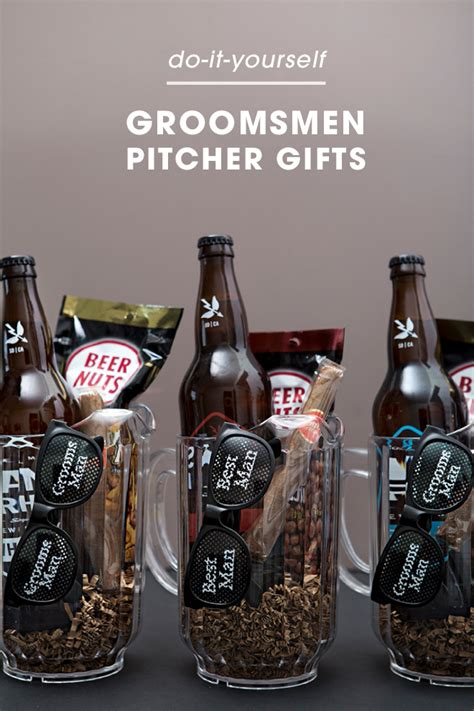 Handmade Groomsmen Gifts - you to see these awesome groomsmen pitcher gifts
