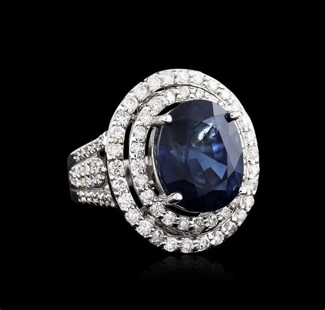 White Sapphire 12 00ct 18kt white gold certified 12 00ct sapphire and