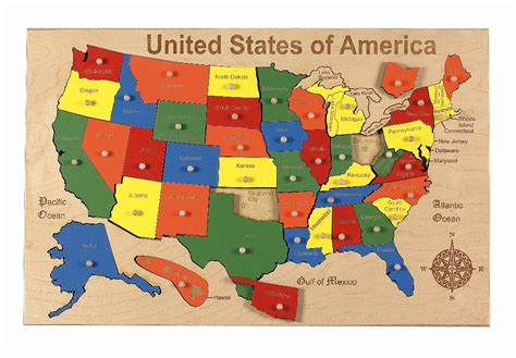 United States Puzzle Map by United States Map Puzzle Submited Images