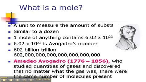 what is in a mol what is a mole