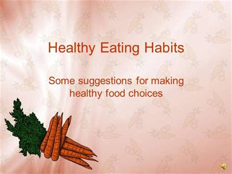Habits Ppt Healthy Habits Authorstream