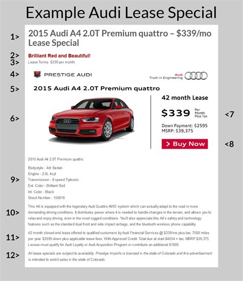 Audi Special Lease audi lease specials an informed decision