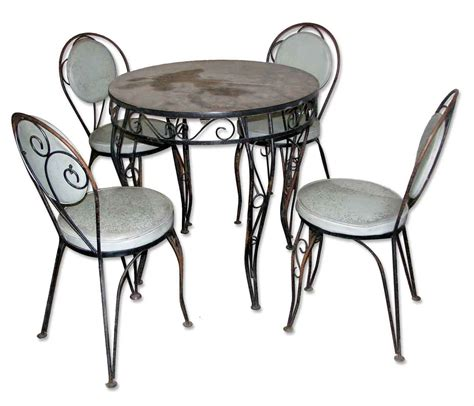 glass table patio set wrought iron glass patio table set olde things