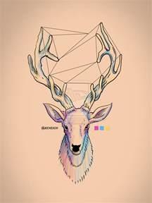 hipster deer by reneign on deviantart