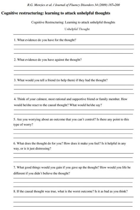 Cbt Worksheets For Adults by Cbt Worksheet Redefiningbodyimage This Looks Like A