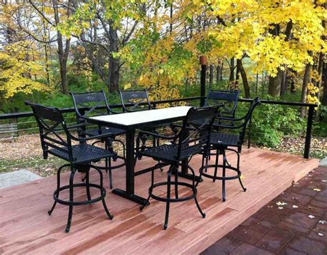 Patio Pub Table Set Patio Furniture Pub Table Sets Roselawnlutheran