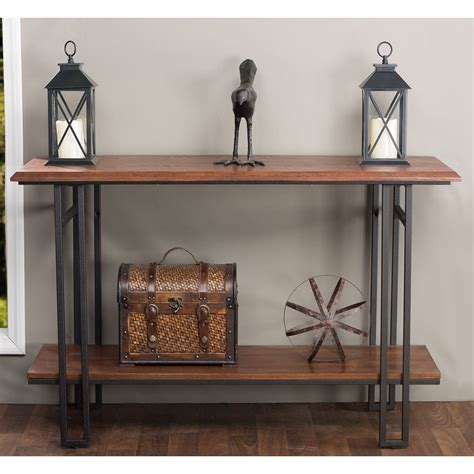metal console table newcastle wood and metal console table furniture living