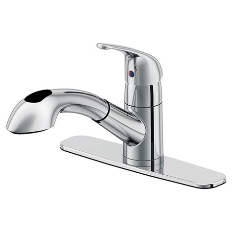 uberhaus kitchen faucet quot kuban quot 1 handle kitchen faucet rona
