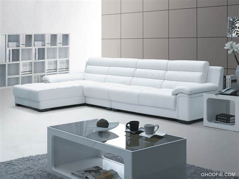 White Leather Modern Sofa White Modern Leather Sofa Interior Design Ideas