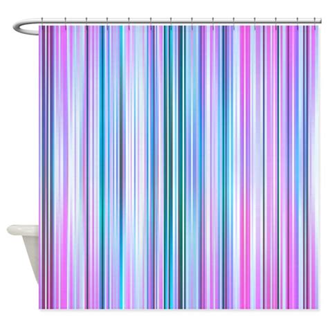 Purple Cafe Curtains Stripes Purple Shower Curtain By Ornaartzi