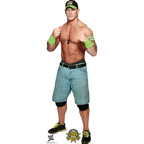 Wwe Wall Murals lifesized green hat john cena standup