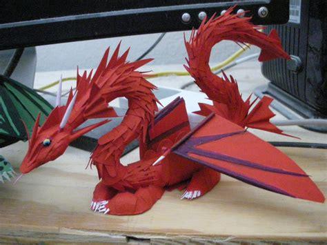 second paper dragon by rekalnus on deviantart