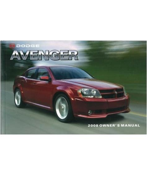 electric and cars manual 2008 dodge avenger auto manual 2008 dodge avenger owners manual