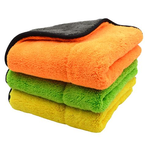 Ultra Soft Microfiber Detailing Cloth For Wax And 3pcs 800gsm 45cmx38cm thick plush microfiber car cleaning cloths car care microfibre wax