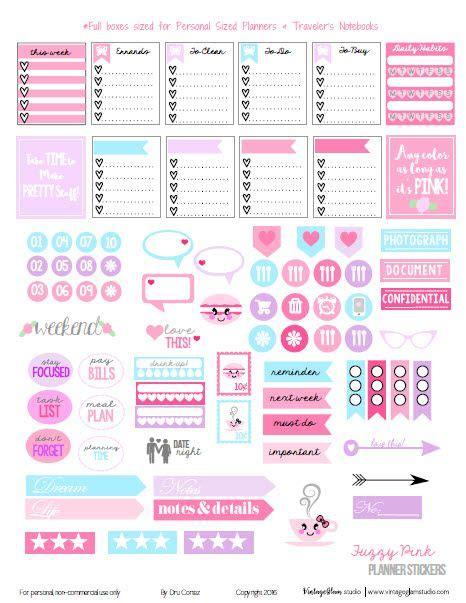 printable notebook stickers travelers notebook freebies printable and planner