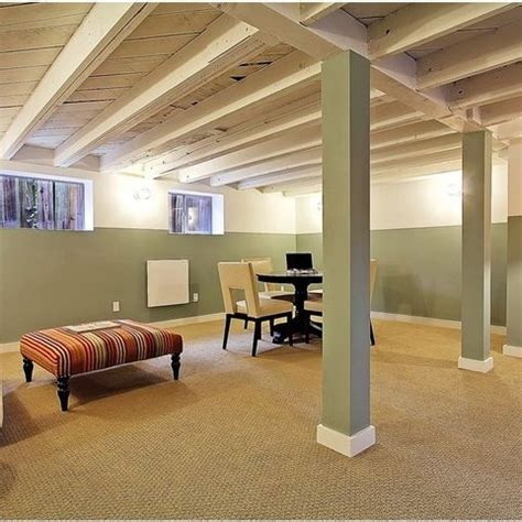 exposed ceiling basement basement pinterest