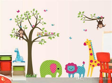 Nursery Decorations Wall Stickers cartoon animals tree stickers children room decoration