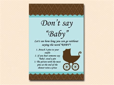 How Do You Say Baby Shower In by Dont Say Baby Baby Shower Ideas Themes