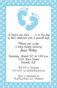 blue footprints baby shower invitations