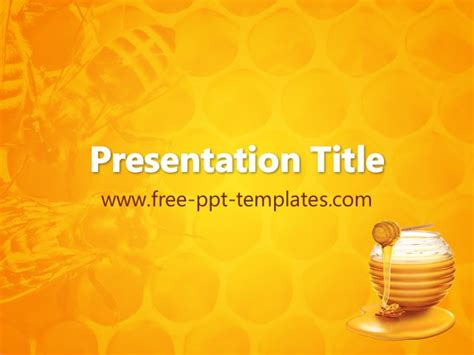 Honey Ppt Template Bee Powerpoint Template