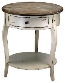 cyan design abelard side table in distressed white gray