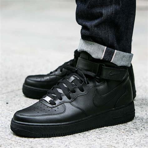 Nike Air 1 Mid All Black nike air 1 mid 07 quot all black quot 315123 001 315123 001 sklep worldbox pl