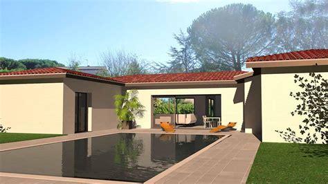 Maison Contemporaine En U by Maison D Architecte Contemporaine En U Dedans Dehors