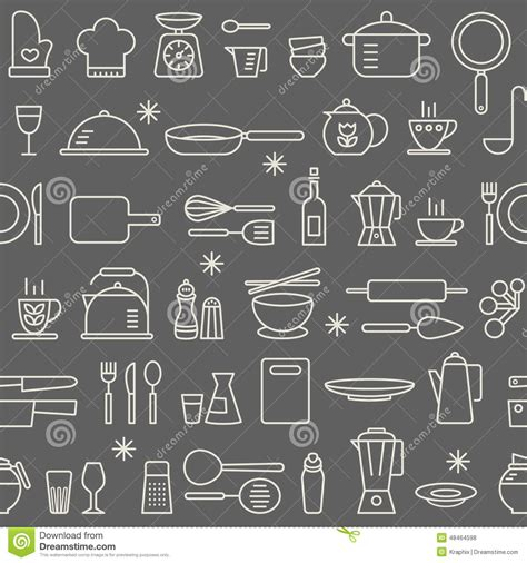 kitchen pattern background seamless background pattern cooking kitchen utensil icons