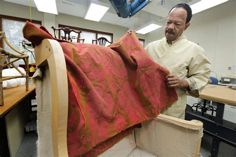 upholstery williamsburg va colonial williamsburg conservator has groundbreaking gift