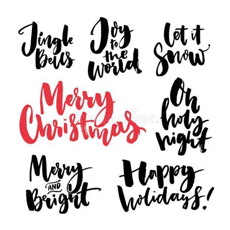 merry christmas text  seasonal  handwritten brush calligraphy words  greeting