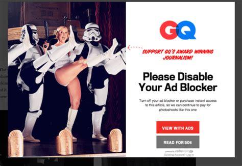 Shock Your Ds Lite Into Some Chrome by アドブロック対応策に乗り出した コンデナスト Gq 課金か解除か二択を迫る Digiday 日本版