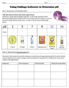 Of student worksheet for a cabbage ph indicator lab from stemmom org