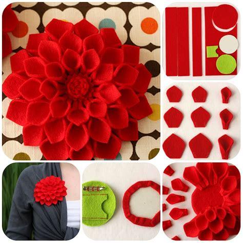 fiori con feltro come fare spilla fiore in feltro tutorial