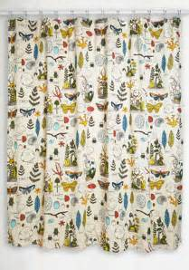 decor on display shower curtain mod retro vintage bath