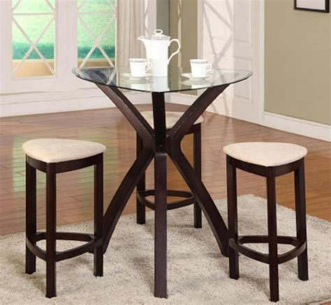 travel bag store 4pc triangle solid wood bar table and