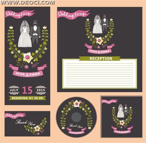 wedding invitation cd cover wedding invitation card and cd cover design eps downloads deoci vector greeting card