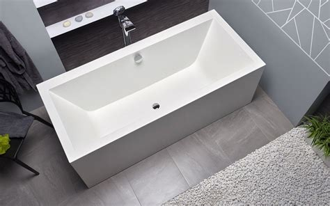 Solid Surface Bathtub by Aquatica Continental Wht Purescape 714 Freestanding