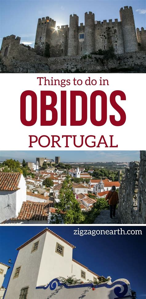 Walking On The Walls Of The Medieval Village Of Obidos