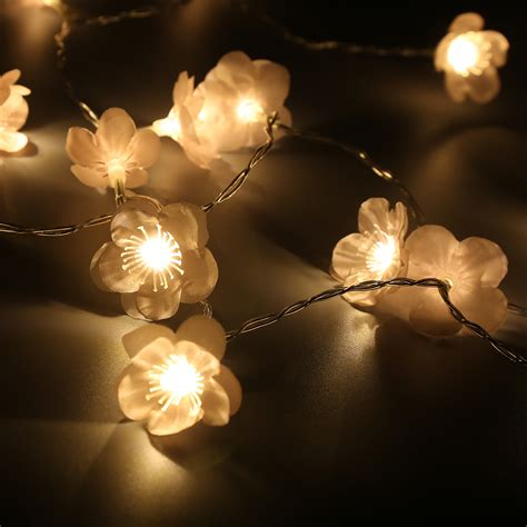 blossom lights 7 22ft 2 2m warm white leds battery cherry blossom string lights pink ebay