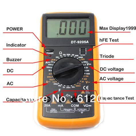 testing capacitors with a voltmeter test equipment advanced dt92 digital multimeter battery included in box cheap courier