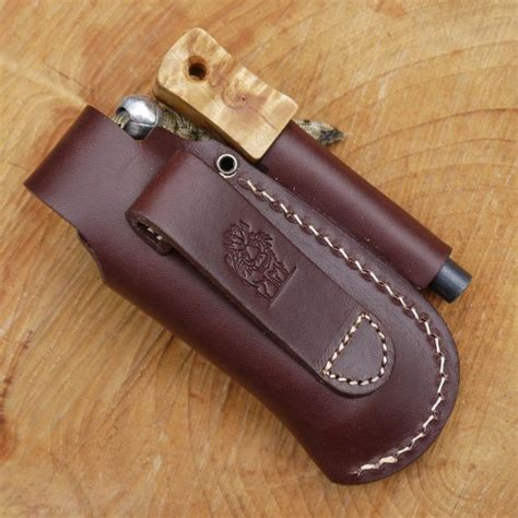 knife pouch tbs leather small folding knife belt pouch with firesteel loop