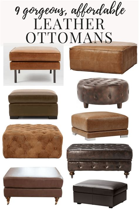 cheap faux leather ottoman affordable modern leather ottomans renovations