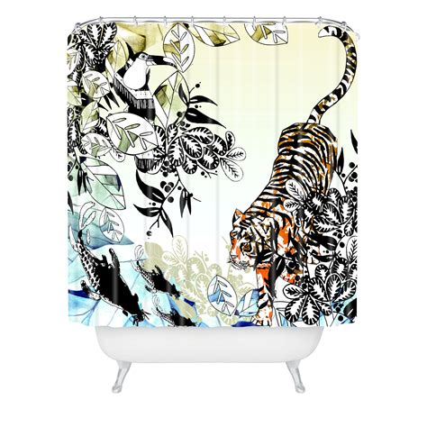 tiger shower curtain aimee st hill tiger tiger shower curtain from deny designs