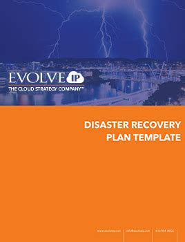 Disaster Recovery Plan Template Evolve Ip Cloud Disaster Recovery Plan Template