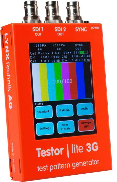 hd test pattern generator software lynx ptg 1802 testor lite 3g sd hd 3g test pattern generator