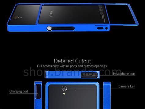 Bumper Sony Experia Z Z Lte Bazzel Alumunium 2 sony xperia z metallic bumper