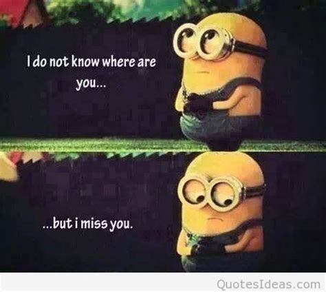 imagenes de i miss you alot funny i miss you quote with minions
