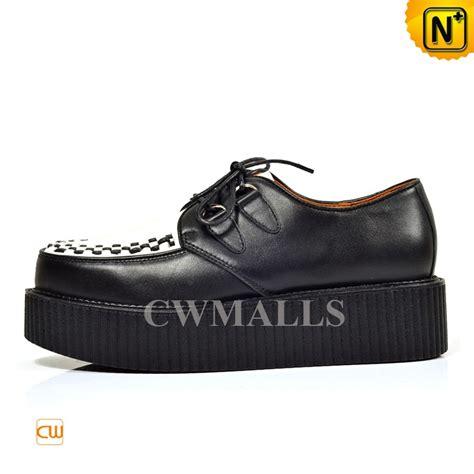 mens designer leather flatform shoes cw721611