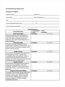 90 Day Performance Review Template by 27 Performance Review Forms In Pdf