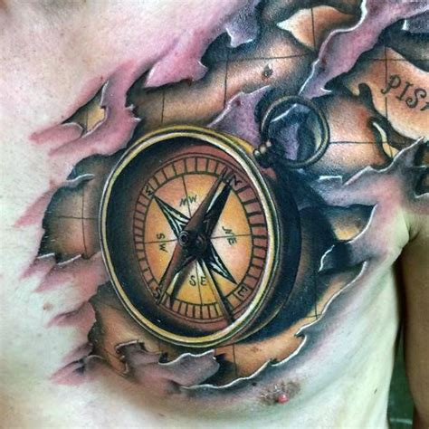 nautical compass rose tattoo 70 compass designs for an exploration of ideas